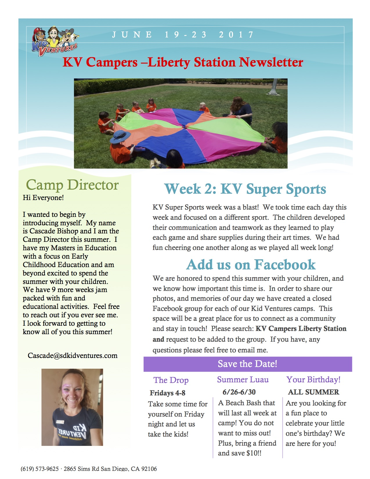 KV Camp Newslatter Week 2.2