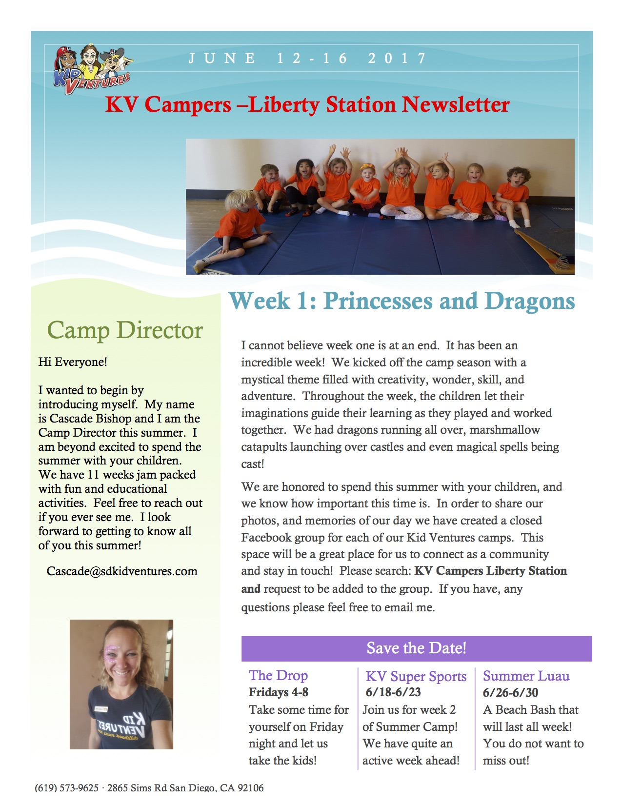 KVLS Camp Newsletter Week 1 2017